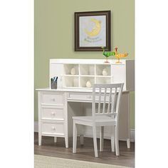 Walmart Kylie Collection Desk with Hutch and Chair Value Bundle