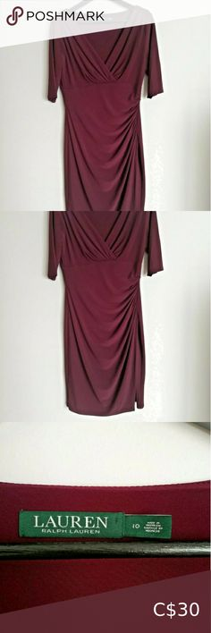 Ralph Lauren Midi Dress In great condition. No flaws. Normal wear. Lauren Ralph Lauren Dresses Midi Conditioner, Ralph Lauren, Size 10, Short Sleeve Dresses, Purple, How To Wear, Closet, Things To Sell, Style