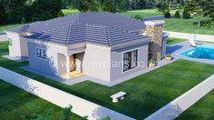3 Bedroom House Plan - My Building Plans South Africa Round House Plans, My House Plans, Family House Plans, Village House Design, House Front Design, Village Houses, My Building, Building Plans, House Plans South Africa