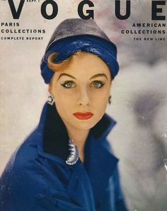 Suzy Parker, photographed for the cover of Vogue September 1952 by Roger Prigent.
