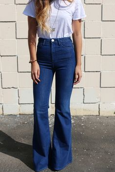 perfect! Blue denim flares