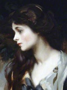 """Sir James Jebusa Shannon, """"Lady Marjorie Manners"""", detail"""