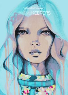 Cover of Finders Keepers the Lable 'A Beautiful Ordinary' Look Book. Illustrations done by the incredibly talented Anya Brock