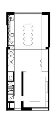 STAM architecten — Woning GOOS Deco, Open Plan, Floor Plans, Diagram, How To Plan, Reno Ideas, Arquitetura, Home, Open Floor Plans