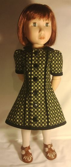 1940  style dress for a girl for all time doll by Gwendollys