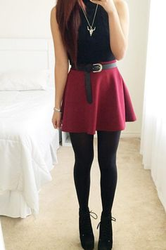 Colors of Aurora Essential Flared Skirt