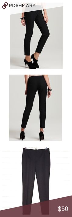 👌🏻 NWT Theory Belisa Black Wool Bistretch Pants Very modern and slim dress pant or could be an everyday slim black pants with a refined straight leg👌🏻 New With Tags!  Waist is 28 inches, fabric stretches.  The Inseam is 29 inches. Leg opening is 6.5 inches. Theory Pants Ankle & Cropped
