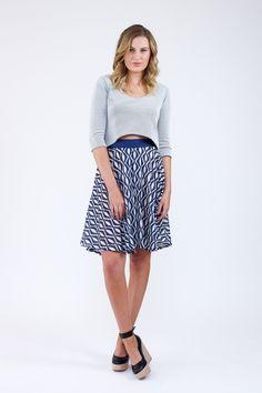 Tania Culottes sewing pattern: kurze Hose die aussieht wie ein Tellerrock