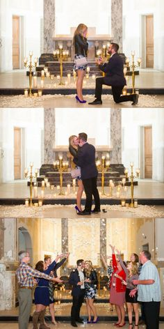 He asked her to marry him at the same altar where her parents and grandparents were married, and it's so sentimental. <3