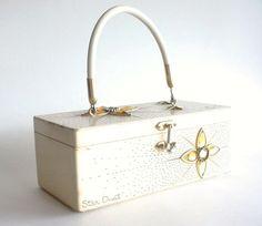 Enid Collins Wooden Purse  Box Purse  Star Dust  by CraZyDreamZ, $65.00