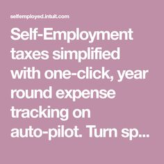 Self-Employment taxes simplified with one-click, year round expense tracking on auto-pilot. Turn spending into tax savings. Find more deductions. Try for free. Uber Business, Business Tips, Business Money, Business Quotes, Tax Questions, Small Business Bookkeeping, Quickbooks Online, Win Win Situation, Self Employment