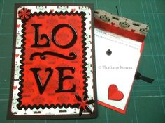 Cartão em scrapbook LOVE #tkscrapbook