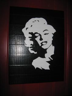 Crafty Soccer Mom: Duct Tape Art @Ashley Walters Starr Cooper Gatny made me think of you bc Duck tape and Marilyn!