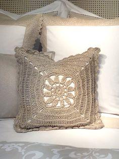 Crochet cushion, Zara Home