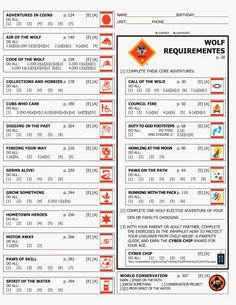 Kara's Cub Stuff: Forms for new cub program Wolf rank Cub Scout Games, Cub Scout Activities, Cub Scouts Wolf, Tiger Scouts, Scout Mom, Girl Scouts, Cub Scout Crafts, Wolf Den, Tips