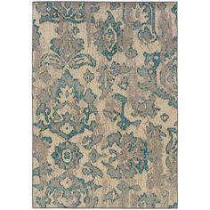 Oriental Weavers Kaleidoscope Ivory/Blue Floral 8023Y Area Rug