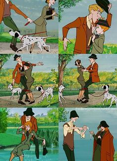 A Newly Engaged Couple Recreated THAT Scene From 101 Dalmatians And It's So Cute - http://www.sqba.co/love/a-newly-engaged-couple-recreated-that-scene-from-101-dalmatians-and-its-so-cute-2/