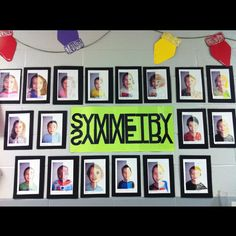 Symmetry - excellent way to incorporate art into a math classroom!