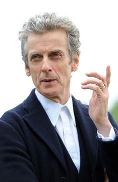 'Doctor Who' Photo Call in London. Good shot of the specially made ring Peter wears.