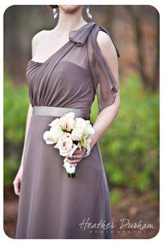 One shoulder bridesmaids dress • Shoal Creek wedding • Heather Durham Photography • Birmingham AL wedding photographer
