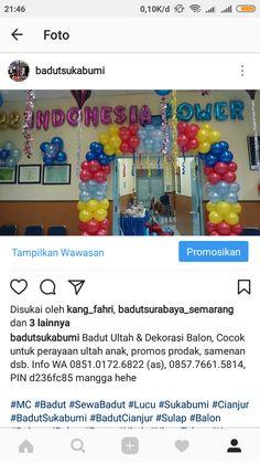 Badut Sukabumi, Badut MC Ulang tahun, Karakter Tokoh Kartun & Dekorasi Balon, Sound System etc. Cocok untuk perayaan ultah anak, promos prod...
