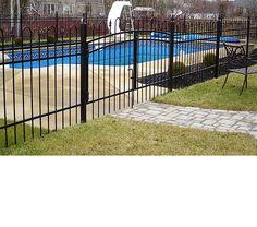 Cl ture ornementale en aluminium pour piscine couleur for Cloture amovible pour piscine