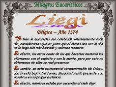 Leamos la BIBLIA: Milagros Eucaristicos 05-09-2014