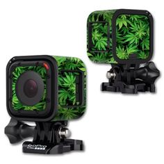 MightySkins Protective Vinyl Skin Decal Cover for GoPro Hero4 Session Camera Digital Camcorder Sticker Skins Weed - Walmart.com