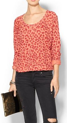 Loving this leopard crop pullover - on sale for $34.97!