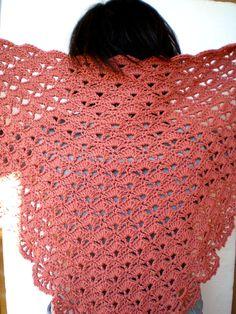 Wool Shawl Crocheted Shawl
