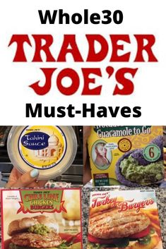 Trader Joe's Must-Haves - Lactose Free Diet Whole 30 Drinks, Whole 30 Snacks, Whole 30 Recipes, Raw Food Recipes, Freezer Recipes, Budget Recipes, Freezer Cooking, Drink Recipes, Cooking Tips