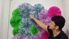 Aula 38 - Como fazer um painel com folhas de papel de seda (Artesanato)