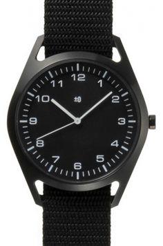 Wrist Watch Black by Naoto Fukasawa  for Plus Minus Zero