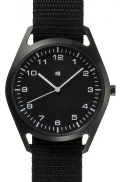 Wrist Watch Black by Naoto Fukasawa  for Plus Minus Zero