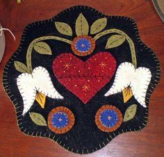 Lovely wool felt penny rug