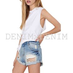 Women's JoJo #Distressed Rolle #Denim #Jean #Shorts