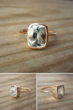 I normally dislike all diamond rings but this is beautiful. The thin band the rectangular diamond. love.
