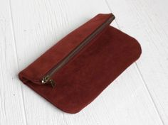 Vegan Fold Over Clutch in Wine, Oxblood Purse. $67.00, via Etsy.
