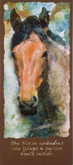 Spirit, Strength, Grace Horse Canvas Art Print