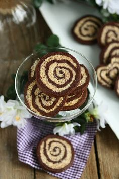 Spelt Coconut Pinwheels:A spelt chocolate cookie with a cream cheese coconut swirl that's perfect for snacking and gifting. It freezes well and can be made ahead of time and sliced to bake at your leisure.