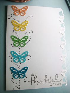 my butterflies, today's card