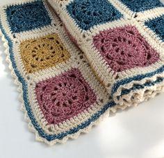 Detail of Vintage Blanket by madewithloops.co.uk