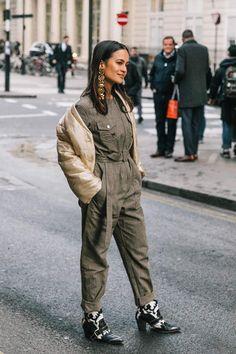 How to Wear: Boiler Suit Suit Fashion, Look Fashion, Fashion Outfits, Fashion Trends, Color Verde Militar, Jessica Parker, Boiler Suit, Street Chic, Autumn Winter Fashion
