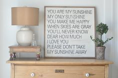 Sunshine Sign. $100.00, via Etsy.