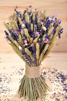 ♥ , from Iryna Lavender Decor, Lavender Crafts, Lavender Flowers, Bridal Flowers, Fall Flowers, Dried Flower Arrangements, Flower Centerpieces, Flower Decorations, Wedding Centerpieces