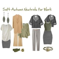 """Soft Autumn Neutrals for Work"" by jeaninebyers on Polyvore"