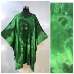 by qualicumclothworks on Etsy Caftans, Cotton Spandex, Bamboo, Tie Dye, Kimono Top, How To Wear, Etsy, Outfits, Women