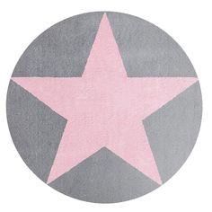 Kinderteppich Happy Rugs STAR silbergrau/rosa 160cm rund, 119,00 &eur