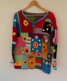 Crochet Blouse, Crochet Poncho, Free Crochet, Knit Crochet, Boho Chique, Freeform Crochet, Crochet Woman, Crochet Clothes, Free Knitting