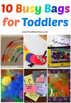 Fine Motor Skill Busy Bags For Toddlers